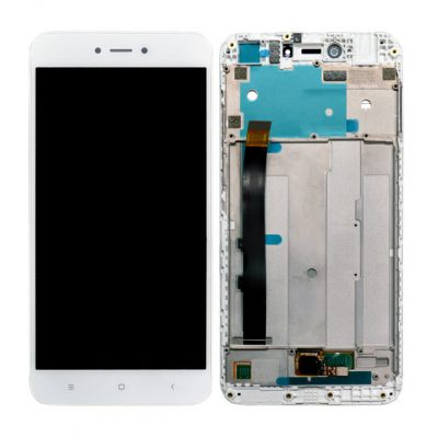 Change your glass of LCD Display for Xiaomi Redmi Y1 Lite with Touch Screen Replacement Combo Folder Assembly - White Frame