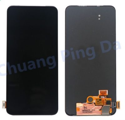 Display Screen for Amoled Oppo Reno2 Z Reno 2Z, Reno 2 Z, PCKM70, PCKT00, PCKM00, CPH1945, CPH1951 with Touch Combo Folder Full Assembly Digitizer Glass Replacement, Black Frame